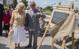 His Royal Highness the Prince of Wales and the Duchess of Cornwall visit Kate Humble's farm Humble by Nature