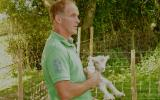 Tim Stephens with a new Dorset Lamb at Humble by Nature