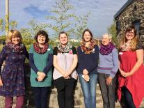 Learn to crochet a cowl using Welsh wool at Humble by Nature, Kate Humble's Working Farm in Monmouthshire