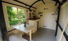 The Lamp Hut interior at the Humble Hideaway at Kate Humble's farm Humble by Nature