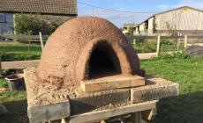 Learn to build a cob wood-fired pizza oven at Humble by Nature Kate Humble's farm in Monmouth South Wales