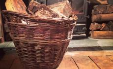 Learn to weave a willow log basket by hand at Humble by Nature Kate Humble's farm iin Monmouth South Wales