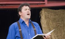 Learn to sing Christmas Carols with Karl Daymond at Humble by Nature Kate Humble's farm in Monmouth South Wales