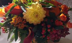 Learn to make beautiful autumnal flower arrangements with Catherine Gray Flowers at Humble by Nature, Kate Humble's Working Farm in Monmouthshire