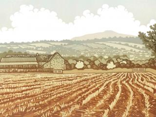 Lino printing for adults at Kate Humble's Farm in Monmouthshire, Humble by Nature