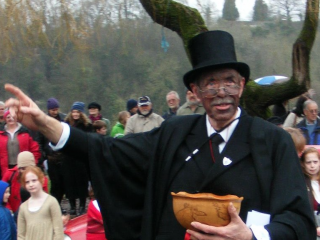 Learn the Wassail song with Karl Daymond at Humble by Nature Kate Humble's farm in Monmouth South Wales