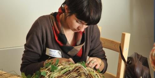 learn to weave willow hedgerow basket at Humble by Nature Kate Humble's farm in Monmouth Wales
