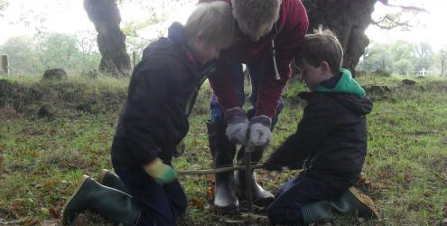 Bush Craft Fire Making Course at Humble by Nature Kate Humble' s farm in Monmouth South Wales