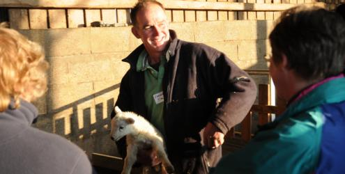 Hands-on Lambing Course at Humble by Nature Kate Humble's Farm in Monmouth, South Wales
