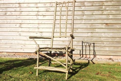 Learn to make a green wood hazel pole chair at kate humble's farm humble by nature