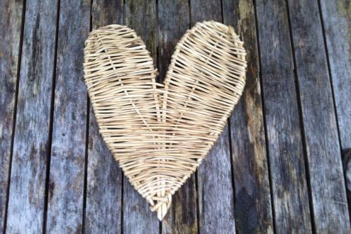 Learn to weave willow hearts at Kate Humble's farm Humble by Nature in Monmouth South Wales