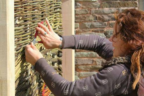 Learn willow weaving basket weaving garden structures and sculptures with Amanda Rayner of Wyldwood Willlow at Humble by Nature Kate Humble's farm in Monmouth South Wales