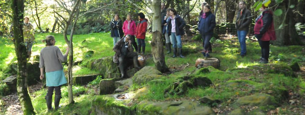 Foraging with Liz Knight at Humble by Nature Kate Humble's farm in Monmouthshire Wales