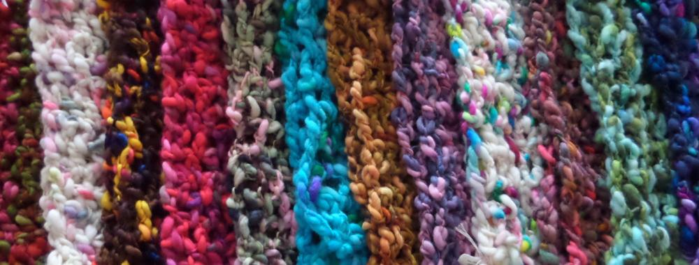 Learn a new craft this autumn peg loom weaving and crochet cowl at Kate Humble's farm Humble by Nature in Monmouth South Wales