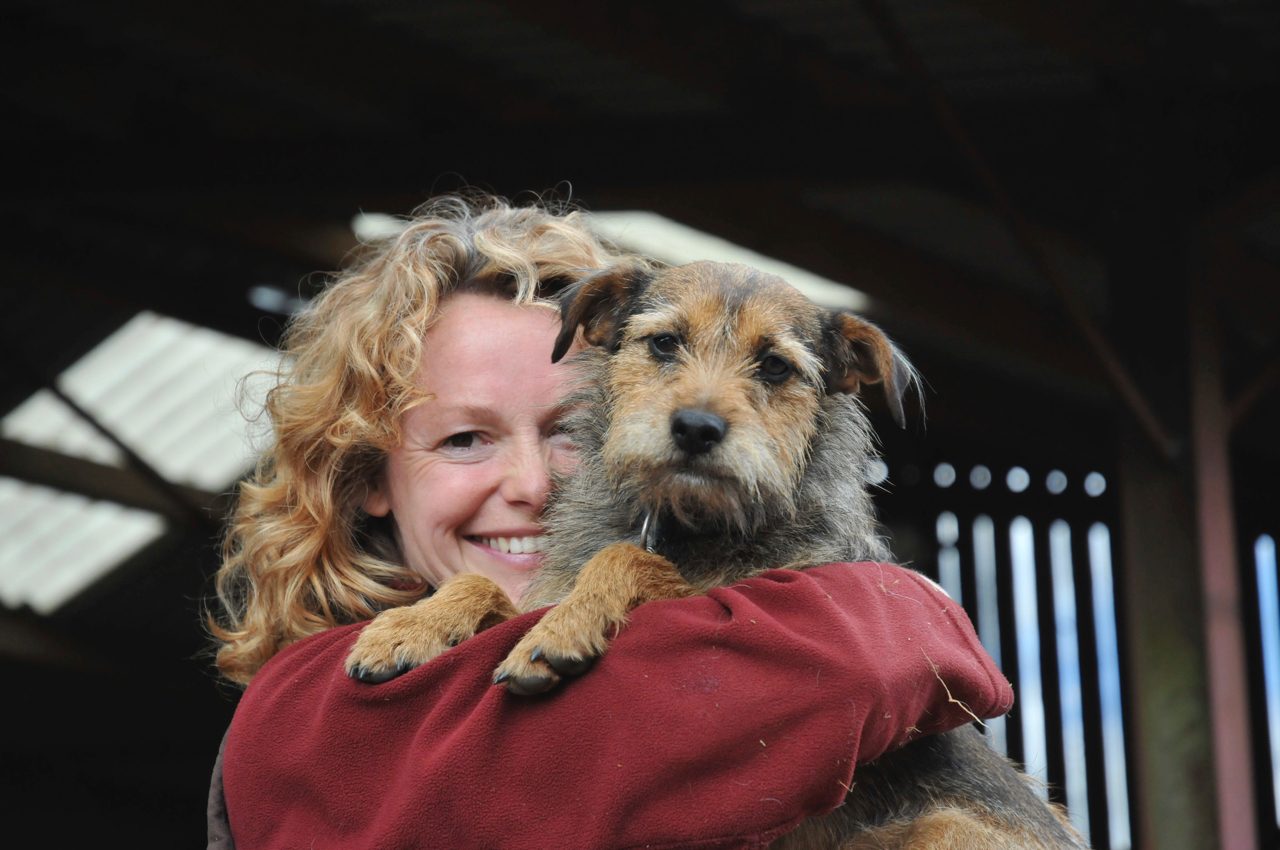 Kate Humble with Bella