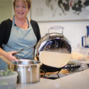 Jane Baxter cooking on Esse EL900