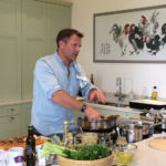 Matt Tebbutt cooking on Esse EL900 electric range at Humble by Nature