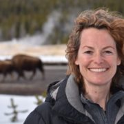 Kate Humble at Yellowstone National Park