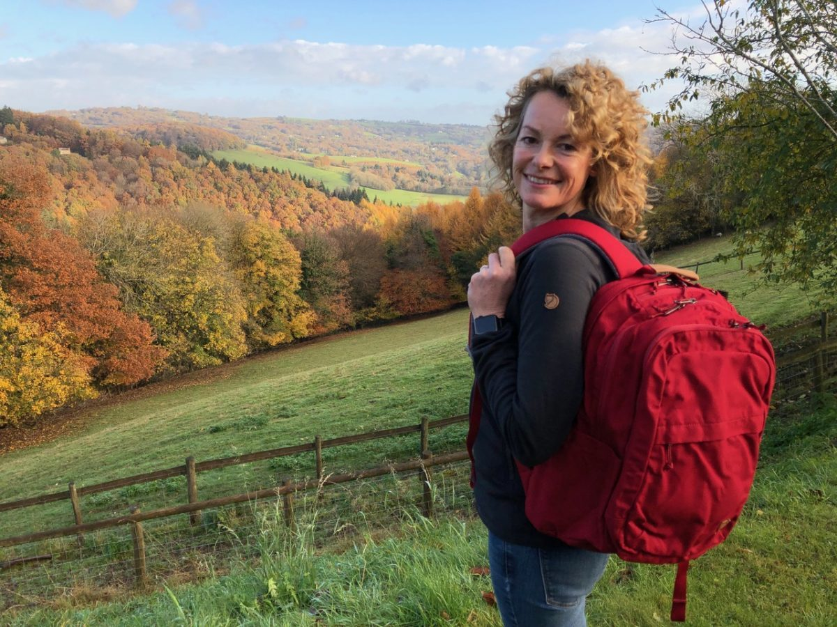Kate with Fjallraven rucksack