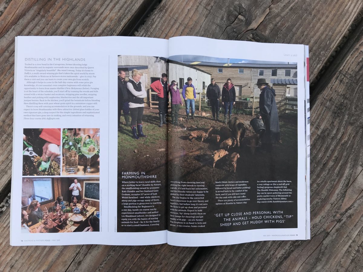 Smallholding for Beginners featured in Waitrose Magazine