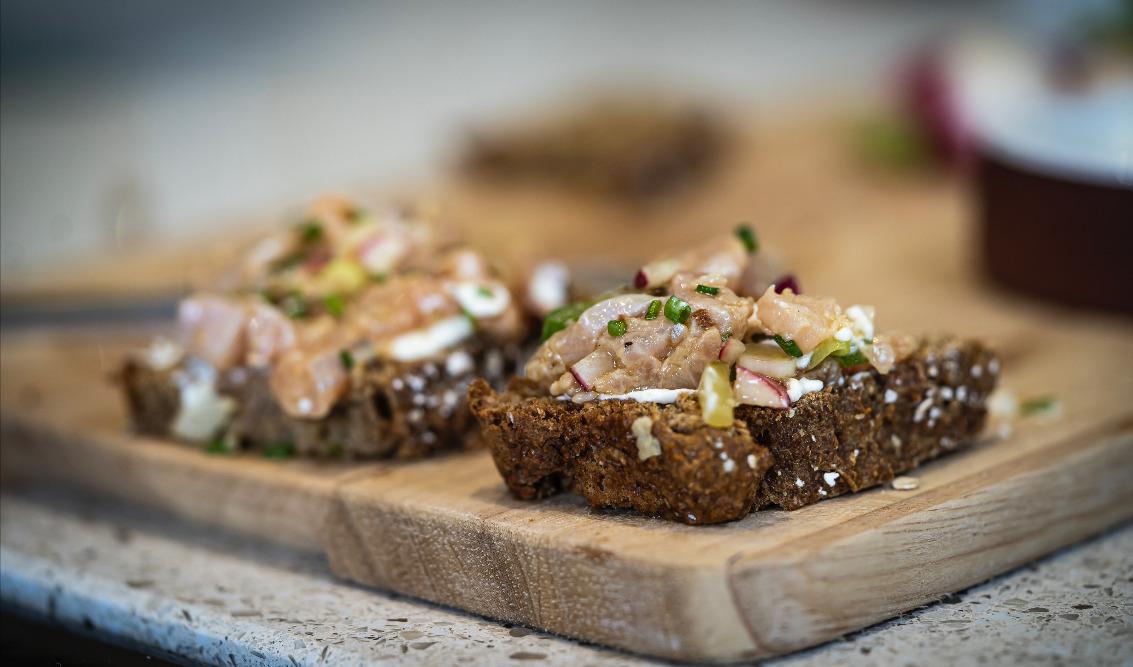 Dark sugar & Oat soda bread recipe from Escape to the Farm Kate Humble