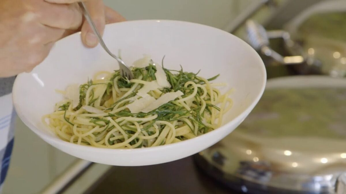 Barba di frate pasta recipe escape to the farm kate humble