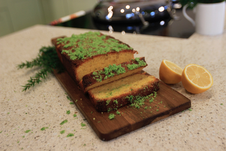 lemon and pine polenta cake recipe from Escape the Farm with Kate Humble