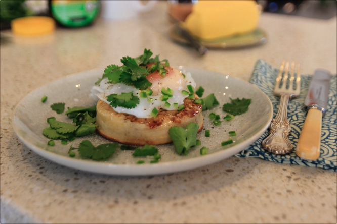 poached duck egg recipe escape to the farm kate humble