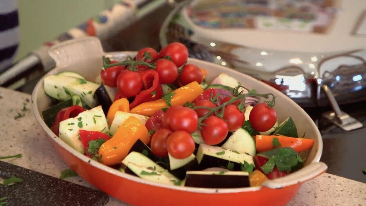 Ratatouille ingredients Escape to the Farm with Kate Humble
